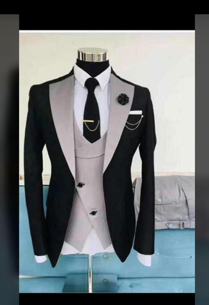 Black and Cream Suit